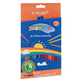 Hộp Bút Chì Màu Gỗ Rainbowl Có Chuốt (18 Màu) Y PLUS+ PC110440_RB