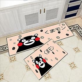 Bộ 2 thảm trang trí, thảm bếp cao cấp GOO15 (40x60 cm và 40x120 cm)