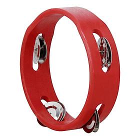 Lục Lạc Cầm Tay Bằng Gỗ Tambourine JINGLES ( 6 Inch) - Đỏ