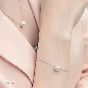 Hoàng Gia Pearl Lắc tay ngọc trai Freshwater màu trắng 6.5-7.5mm chất liệu Bạc Quý Kim W1017B0F31W034001K000