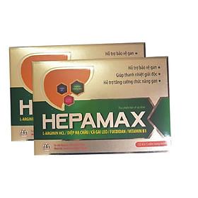 Combo 2 hộp Thực phẩm chức năng Hepamax chứa Fucoidan – Giúp phòng chống Xơ gan, Ung thư gan, tăng Cường Chức Năng Gan Cho Người Uống Nhiều Rượu Bia, Hút Thuốc Lá, Thanh nhiệt giải độc Gan