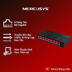 Bộ Chia Mạng Mercusys MS108G 8 Cổng 10/100/1000 Mbps - Hàng Chính Hãng