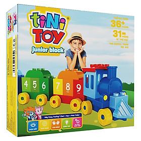Đồ Chơi Lắp Ráp Junior Block The Digital Train  tiNiToy 412