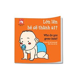 Sách vải lật giở SONG NGỮ ANH - VIỆT: Lớn lên bé sẽ thành ai?