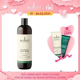 Sữa tắm thảo dược hương chanh và dừa Sukin Botanical Body Wash Coconut & Lime 500ml