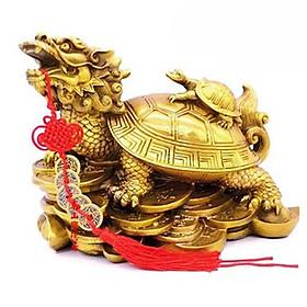 Tượng Long quy rùa đầu rồng cõng con phong thủy Tâm Thành Phát