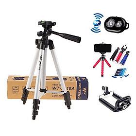Chân máy ảnh, chân máy quay điện thoại nhỏ gọn, bộ giá đỡ điện thoại, tripod máy ảnh, chân quay điện thoại giá rẻ