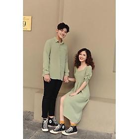 Set áo đôi Hàn Quốc đồ cặp nam nữ chụp hình cưới dã ngoại