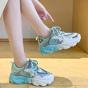 Giày thể thao nữ, giày sneaker nữ lưới đế 3 màu thời trang Hàn Quốc
