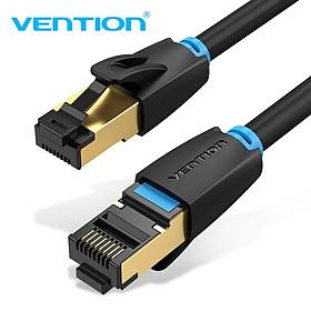 Dây cáp mạng hai đầu đúc sẵn CAT8 SSTP VENTION tròn, dài 1m đến 20m IKAB - Hàng chính hãng