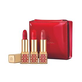 Bộ 3 Son nhung lì Đông y dưỡng ẩm bền màu Whoo GJH Mi Velvet Lip Rouge 3pcs set