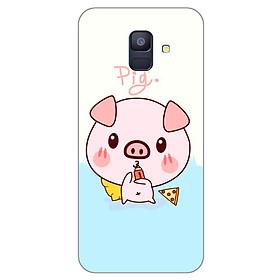 Ốp lưng dẻo cho Samsung Galaxy A6 2018_Pig 03