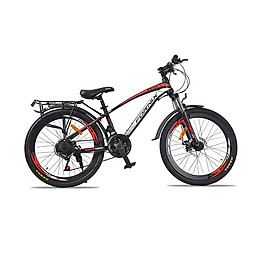 Xe đạp địa hình hiệu Fornix FT24, vòng bánh 24'', màu Đen đỏ