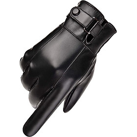 Găng tay da nam cảm ứng chống nước - Mẫu Mới Hottrend Năm Nay
