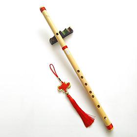 Sáo trúc chuẩn âm đủ tone cơ bản Đô Rê Mi Sol La Si giáng cho người mới tập,tặng kèm dây treo ngọc bội cổ trang sáo trúc