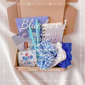 Set Quà Tặng Sinh Nhật Tone Xanh Đặc Biệt Cho Bạn Nữ, 1 box gồm 2-6 món quà dễ thương
