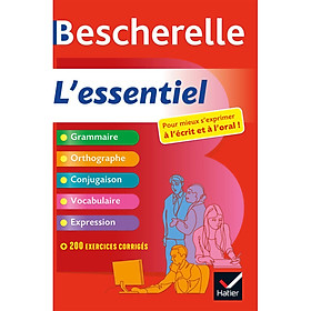 Sách tham khảo tiếng Pháp: Bescherelle L'Essentiel - Tout-En-Un Sur La Langue Francaise