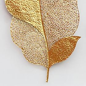 Phù điêu treo tường 2 lá vàng cực đẹp