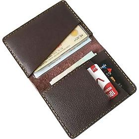 Ví da mini đựng giấy tờ, thẻ ATM, đựng vừa giấy tờ xe cũ (Nâu đậm)