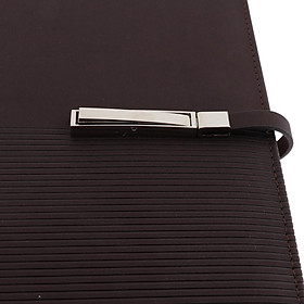 A5 Size Leather Notebook Loose Leaf Memo Diary Notebook with Buckle  Red