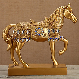 Ngựa phong thủy mạ vàng bạc cao cấp mang lại tài lộc