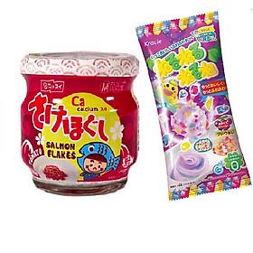 Ruốc cá hồi Meiwa vị cà chua cho bé và gia đình - Tặng 1 gói kẹo popin cookin vị grape