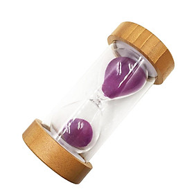 1/25 Min Round Bamboo Sand Timer Hourglass for Kid Reading Game Playing