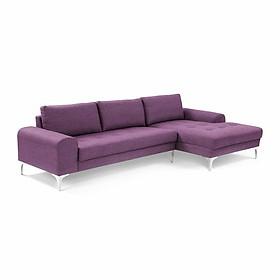 Bộ sofa góc Juno Li-Concept 310 x 180 x 75 cm + ghế lẻ (Xanh đậm) (Tặng 2 gối trang trí trị giá 300k)