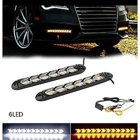 2PC LED Car Flexible DRL Switchback LED Knight Rider Strip Light Headlight Arrow Flasher DRL Turn Signal Waterproof