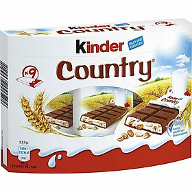 Chocolate Kinder Country hộp 211,5gr (9 thanh)