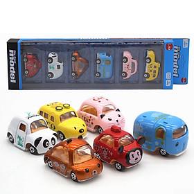 Bộ 6 xe mô hình thú cưng Cartoon AlloyCar - Bằng sắt
