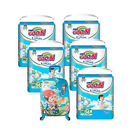Tã quần Goon Premium - 5 bịch tặng vali kéo cho bé-0