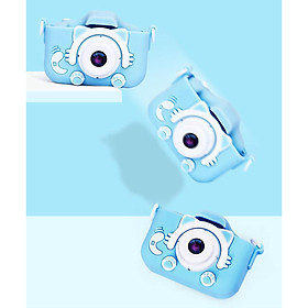 Kids Digital Video Camera Front and Rear Selfie Mini Rechargeable Children Camcorder Camera for 3-12 Year Old Boys Girls