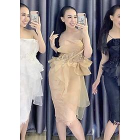 Hình đại diện sản phẩm Đầm body hoa eo vàng