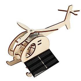 Bộ đồ chơi khoa học tự làm máy bay trực thăng chạy năng lượng mặt trời bằng gỗ – DIY Wood Steam