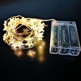 LED Waterproof Star Shaped Copper Wire String Light Night Light for Christmas Wedding Decoration