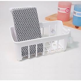 Giá treo vật dụng đa năng Yamada dạng lưới, có núm hít silicon - Màu trắng - Nội địa Nhật Bản