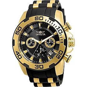 Invicta Men's Pro Diver Stainless Steel Quartz Silicone Strap, Black, 26 Casual Watch