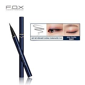Bút Kẻ Viền Mắt Chống Thấm Nước F.O.X Waterproof Liquid Eye Liner 0.5g