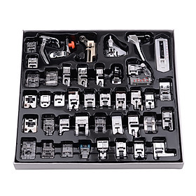 42 Pcs Sewing Machine Presser Feet Set, Professional Sewing Crafting Presser Foot Feet for Janome Brother Singer Sewing