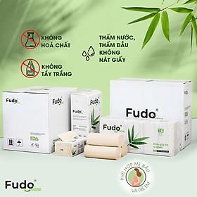 Khăn giấy tre Fudo - Combo 20 Gói Giấy Ăn + 30 Cuộn Giấy Vệ Sinh Không Lõi: 100% bột tre, không tạo mùi, không tẩy trắng, siêu mềm, siêu mịn, siêu dai