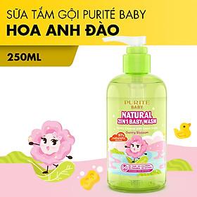 [Hàng Chính Hãng] Sữa Tắm Gội Thiên Nhiên Hoa Anh Đào Purité Baby 250ml