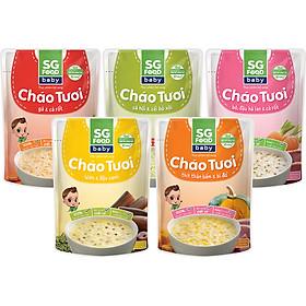 Lốc 5 - Cháo Tươi Baby Sài Gòn Food 240g, Gà, Thịt Bằm, Bò, Lươn, Cá Hồi