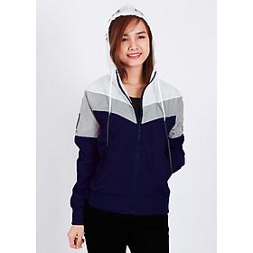 Áo khoác nữ vải dù nhẹ, phối 3 màu thời trang tinh tế