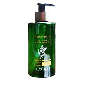 Biyokea Herbal Pure - Sữa rửa mặt cho da mụn 320ml