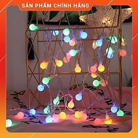Dây Đèn Led Trang Trí 5M - Bóng Tròn Chớp Nhiều Màu Trang Trí Noel, Lễ, Tết