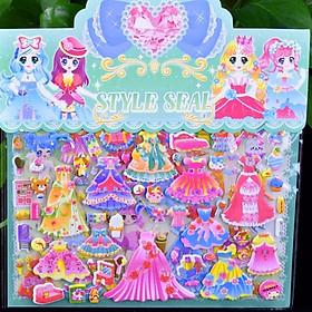 Set sticker dán 3D cao cấp phối đồ cho công chúa  cùng các phụ kiện xinh yêu - ST004