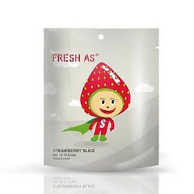 Dâu tây tự nhiên sấy khô đông lạnh Fresh as - 3 gói