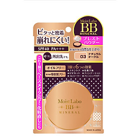 PHẤN NÉN MEISHOKU MOIST-LABO BB MINERAL PRESSED POWDER (NATURAL OCRE – MS 03)-0