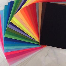Combo 10 vải nỉ cứng (vải không dệt / vải dạ / felt) làm đồ handmade, craft, thủ công 30X30cm, 10 màu khác nhau